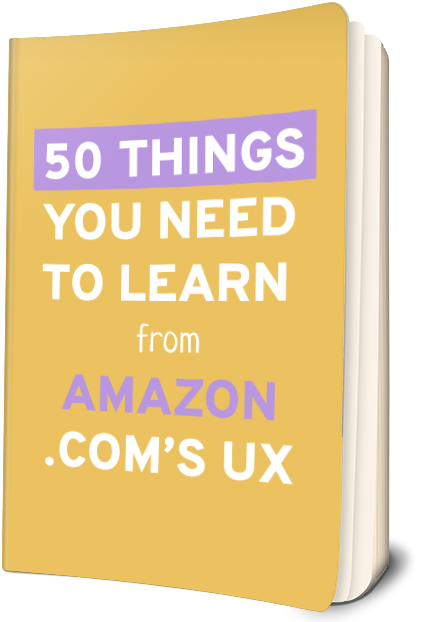 50 things you need to learn from amazon.com's UX
